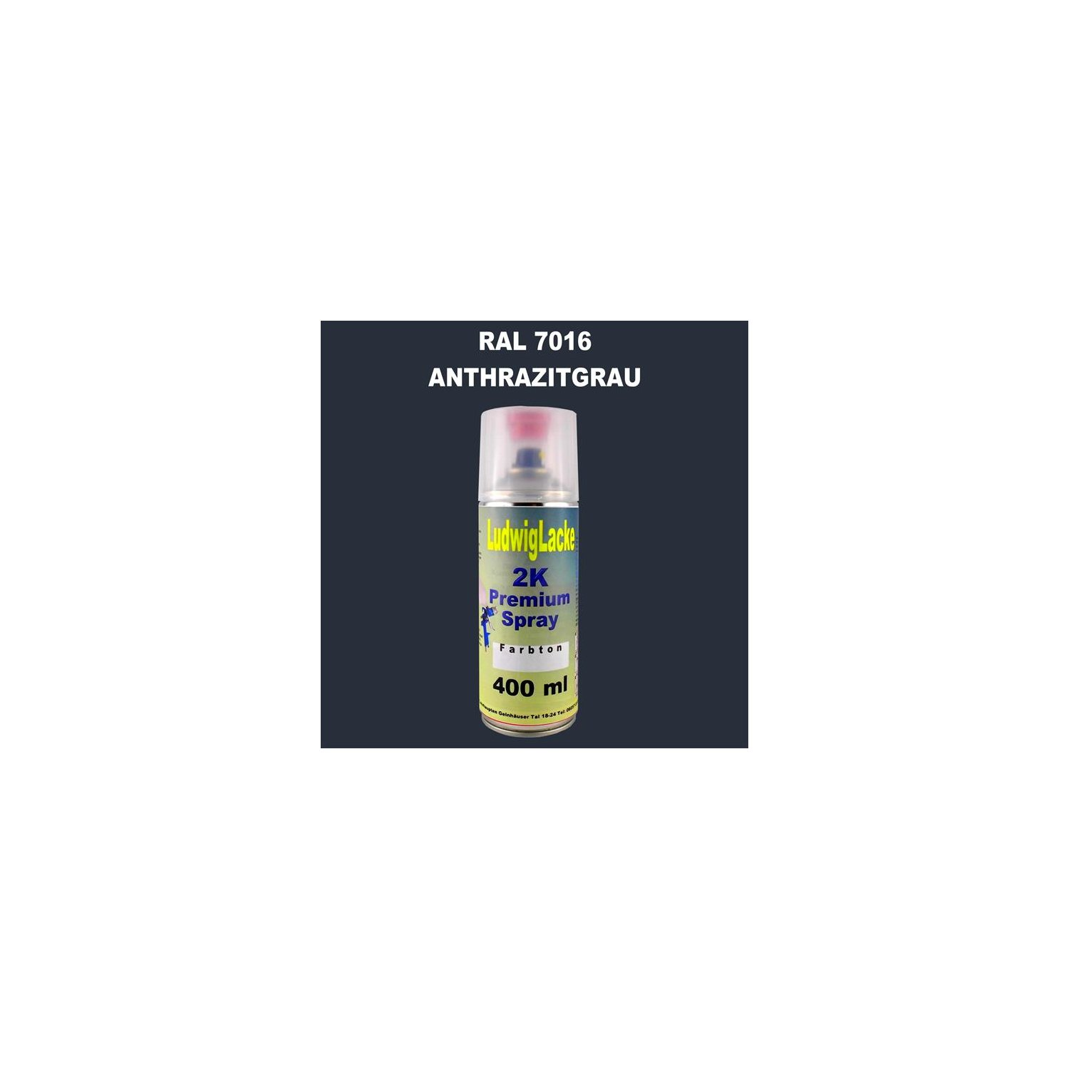 ral 7016 anthrazitgrau 2k premium spray 400ml autolackshop ludwigla 15 98. Black Bedroom Furniture Sets. Home Design Ideas